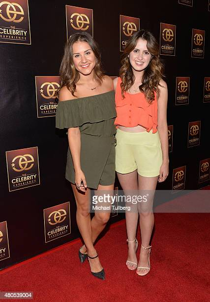 Actors Electra Formosa and Laura Marano attend The Celebrity Experience Panel at Hilton Universal City on July 12 2015 in Universal City California