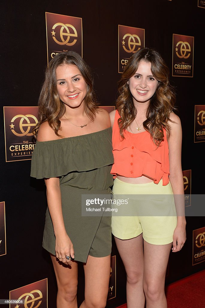 Actors Electra Formosa and Laura Marano attend The Celebrity Experience Panel at Hilton Universal City on July 12, 2015 in Universal City, California.