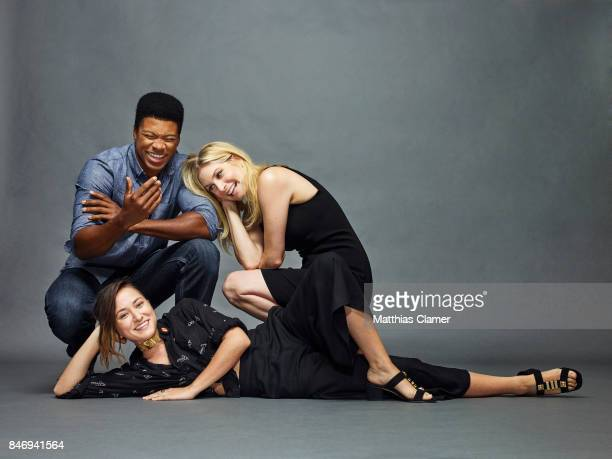 Actors Eli Goree Elizabeth Mitchell and Zelda Williams from 'Dead of Summer' are photographed for Entertainment Weekly Magazine on July 22 2016 at...