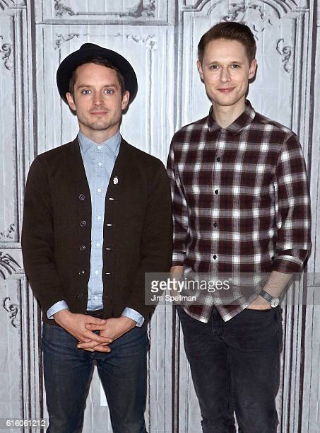 """Actors Elijah Wood and Sam Barnett attend The Build Series Presents to discuss """"Dirk Gently's Holistic Detective Agency"""" at AOL HQ on October 21,..."""