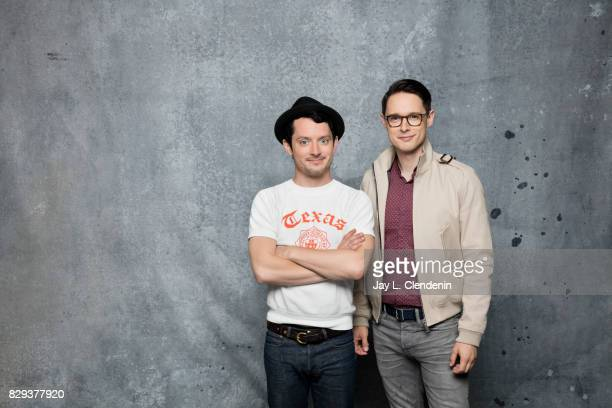 Actors Elijah Wood and Samuel Barnett from the television series 'Dirk Gently's Holistic Detective Agency' are photographed in the LA Times photo...