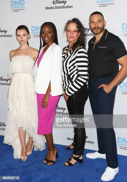 Actors Eline Powell Sibongile Mlambo Rena Owen and Ian Verdun attend the Disney/ABC International Upfronts at the Walt Disney Studio Lot on May 20...