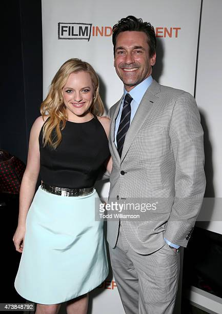 Actors Elisabeth Moss and Jon Hamm attend a 'Mad Men' Live Read and Series Finale Event at The Theater at The Ace Hotel on May 17 2015 in Los Angeles...