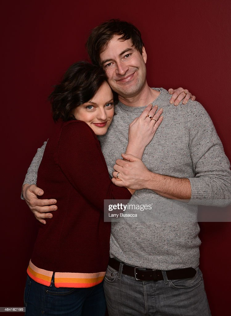Actors Elisabeth Moss and Mark Duplass pose for a portrait during the 2014 Sundance Film Festival at the Getty Images Portrait Studio at the Village At The Lift Presented By McDonald's McCafe on January 21, 2014 in Park City, Utah.