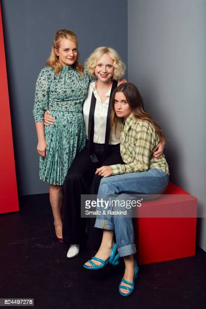 Actors Elisabeth Moss Gwendoline Christie and Alice Englert of SundanceTV's 'Top of the Lake China Girl' pose for a portrait during the 2017 Summer...