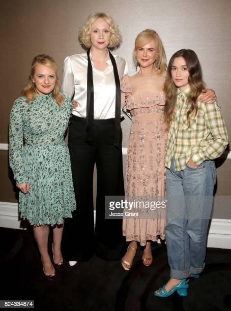 Actors Elisabeth Moss Gwendoline Christie Nicole Kidman and Alice Englert of Sundance TV's 'Top of the Lake China Girl'' at the 2017 Summer...