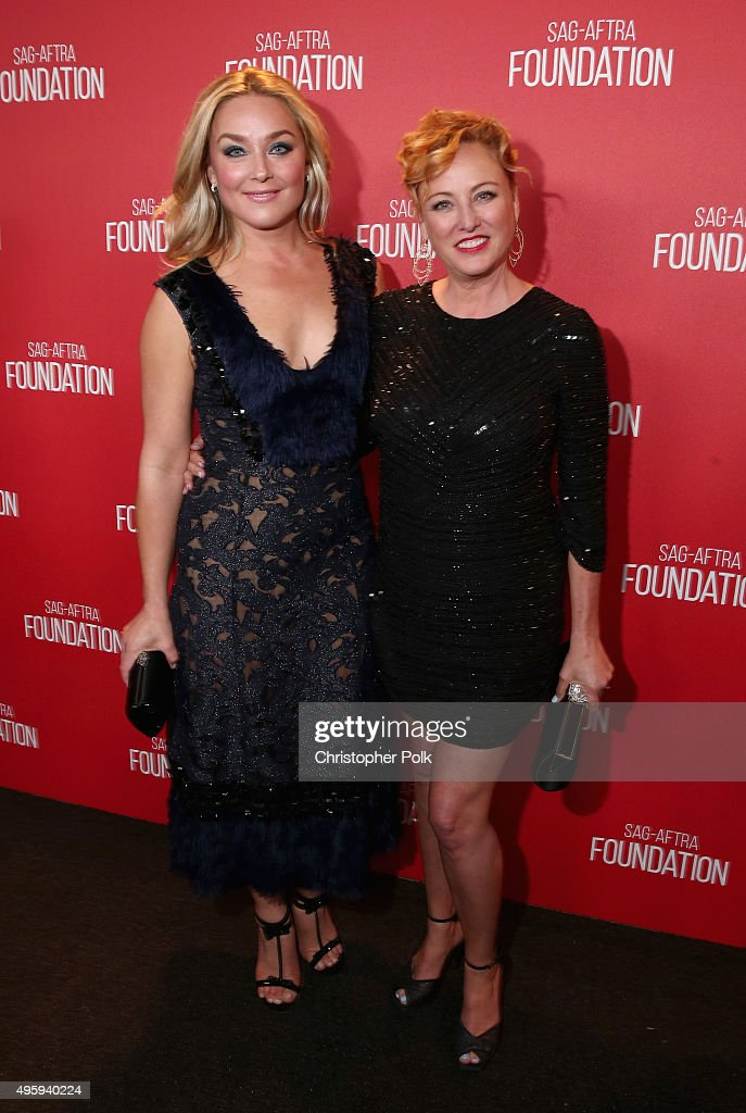 Actors Elisabeth Rohm (L) and Virginia Madsen attend the Screen Actors Guild Foundation 30th Anniversary Celebration at Wallis Annenberg Center for the Performing Arts on November 5, 2015 in Beverly Hills, California.