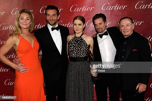 Actors Elisabeth Rohm Bradley Cooper Amy Adams Shea Whigham and Paul Herman pose with the Ensemble Performance Award backstage during the 25th annual...