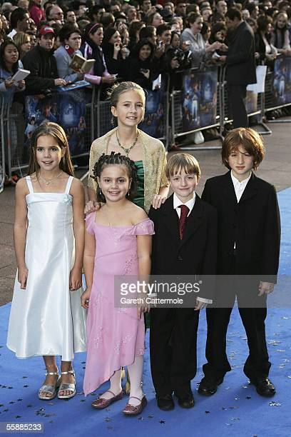 Actors Eliza Bennett Jenny Daykin Holly Gibbs Sam Honywood and Raphael Coleman arrive at the The World Charity Premiere of Nanny McPhee in aid of The...