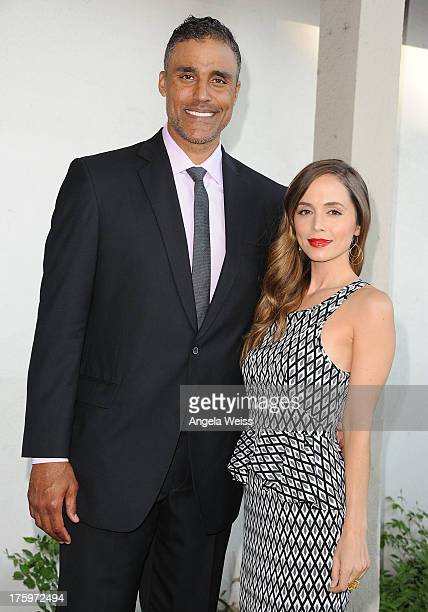 Actors Eliza Dushku and Rick Fox arrives at Project Angel Food's Annual Angel Awards 2013 honoring Jane Lynch held at Project Angel Food on August 10...