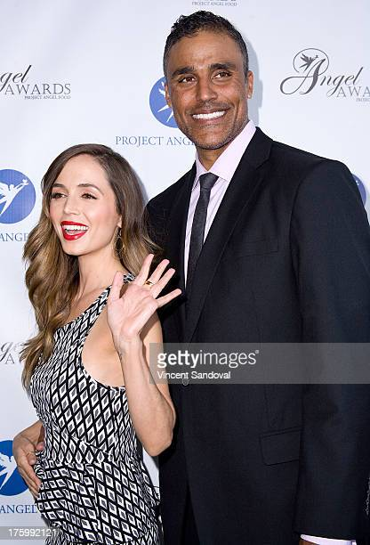 Actors Eliza Dushku and Rick Fox attend Project Angel Food's annual summer soiree Angel Awards 2013 honoring Jane Lynch at Project Angel Food on...
