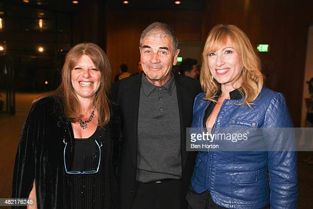 Actors Eliza Roberts Robert Forrester and Denise Grayson attend the premiere of The M Word at DGA Theater on April 2 2014 in Los Angeles California