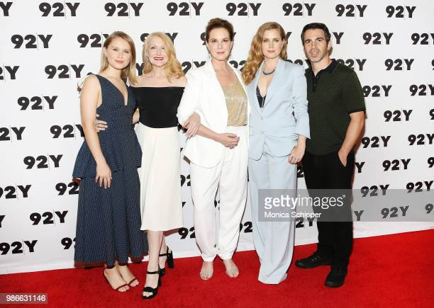 Actors Eliza Scanlen Patricia Clarkson Elizabeth Perkins Amy Adams and Chris Messina attend HBO's Sharp Objects New York Screening And Conversation...