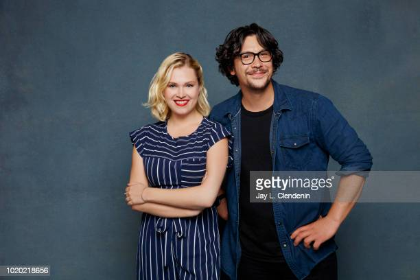 Actors Eliza Taylor and Bob Morley from 'The 100' are photographed for Los Angeles Times on July 21 2018 in San Diego California PUBLISHED IMAGE...