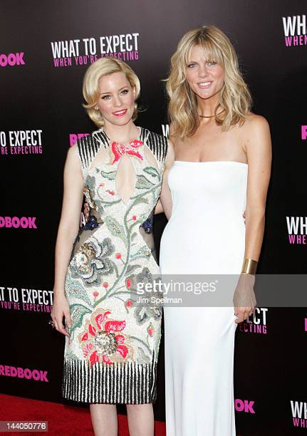 Actors Elizabeth Banks and Brooklyn Decker attend the What To Expect When Your Expecting premiere at AMC Lincoln Square Theater on May 8 2012 in New...