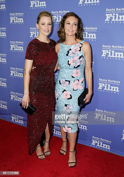 Actors Elizabeth Banks and Diane Lane attend the Santa Barbara International Film Festival Annual Kirk Douglas Award for Excellence in Film honoring...