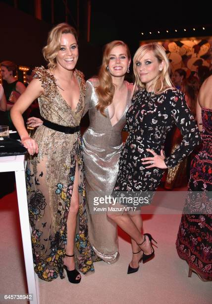Actors Elizabeth BanksAmy Adams and Reese Witherspoon attend the 2017 Vanity Fair Oscar Party hosted by Graydon Carter at Wallis Annenberg Center for...