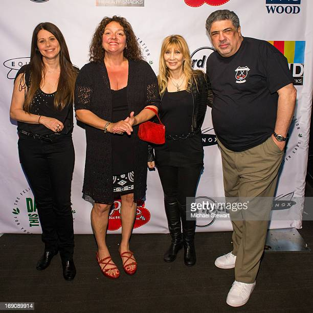 Actors Elizabeth Bracco Aida Turturro Maureen Van Zandt and Vincent Pastore attend the Felix Organization 'Dance This Way' Fundraiser at XL Nightclub...