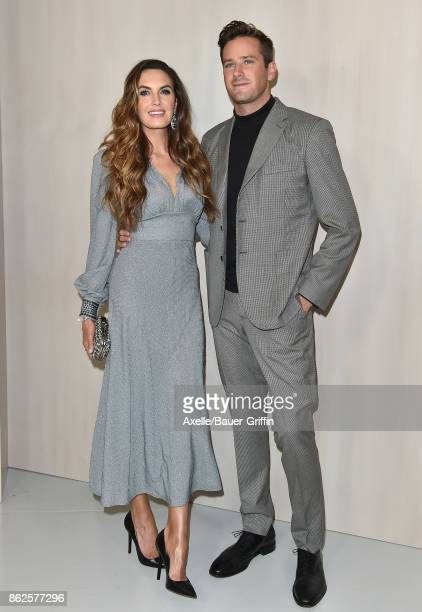 Actors Elizabeth Chambers and Armie Hammer arrive at Hammer Museum Gala in the Garden on October 14 2017 in Westwood California