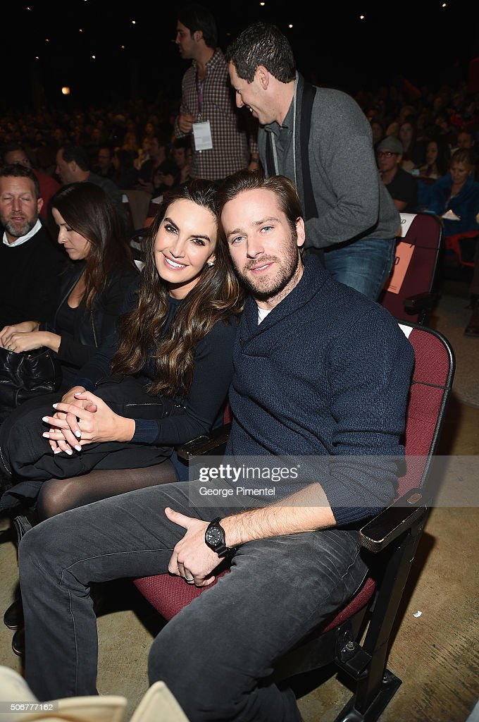 Actors Elizabeth Chambers (L) and Armie Hammer attend the 'The Birth Of A Nation' Premiere during the 2016 Sundance Film Festival at Eccles Center Theatre on January 25, 2016 in Park City, Utah.