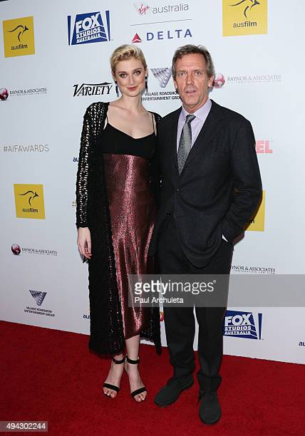 Actors Elizabeth Debicki and Hugh Laurie attend the 4th Annual Australians In Film Awards Benefit Dinner and Gala at The InterContinental Hotel on...