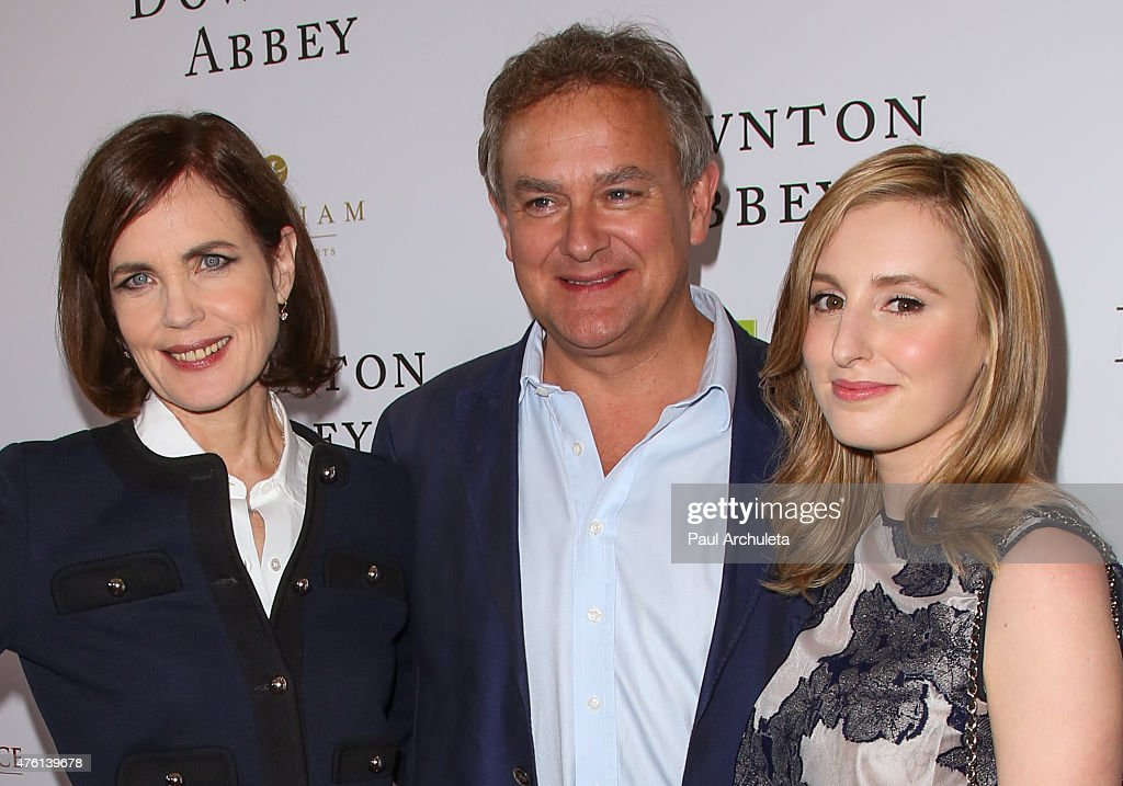 Actors Elizabeth McGovern, Hugh Bonneville and Laura Carmichael attend the 'Downton Abbey' panel Q&A at The Writers Guild Theater on June 6, 2015 in Beverly Hills, California.