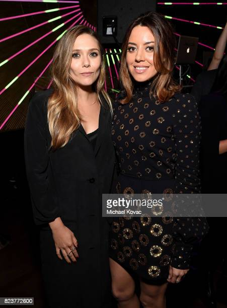 Actors Elizabeth Olsen and Aubrey Plaza attend the after party for the Los Angeles Premiere of INGRID GOES WEST presented by SVEDKA Vodka and Avenue...
