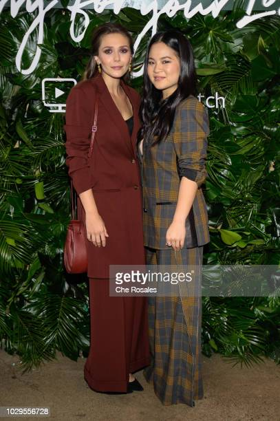 Actors Elizabeth Olsen and Kelly Marie Tran attend the Sorry For Your Loss Facebook Watch Premiere at FIGO on September 8 2018 in Toronto Canada
