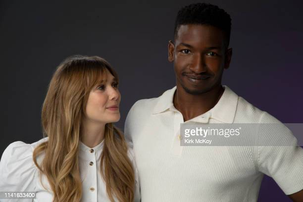 Actors Elizabeth Olsen and Mamoudou Athie are photographed for Los Angeles Times on April 16 2019 in El Segundo California PUBLISHED IMAGE CREDIT...