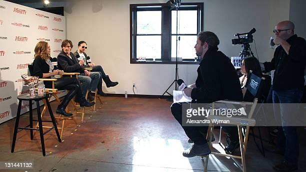 Actors Elizabeth Olsen John Hawkes and Brady Corbet speak at the Variety Studio at Sundance on January 22 2011 in Park City Utah