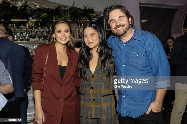 Actors Elizabeth Olsen Kelly Marie Tran and Director James Ponsoldt attends the Sorry For Your Loss Facebook Watch Premiere Event at FIGO on...