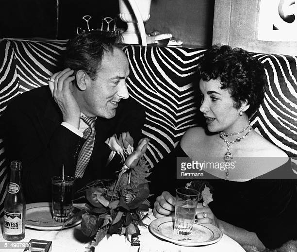 Actors Elizabeth Taylor and Michael Wilding at the El Morocco nightclub in Manhattan New York City November 1951 The couple were married the...
