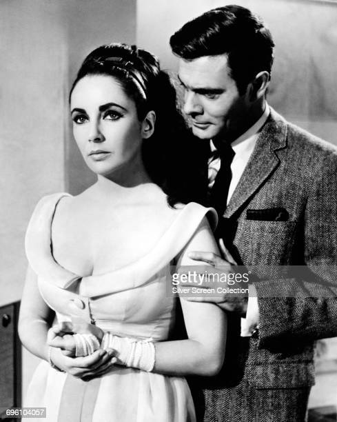 Actors Elizabeth Taylor as Frances Andros and Louis Jourdan as Marc Champselle in the film 'The VIPs' 1963