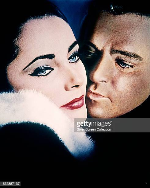 Actors Elizabeth Taylor as Frances Andros and Richard Burton as Paul Andros in the film 'The VIPs' 1963