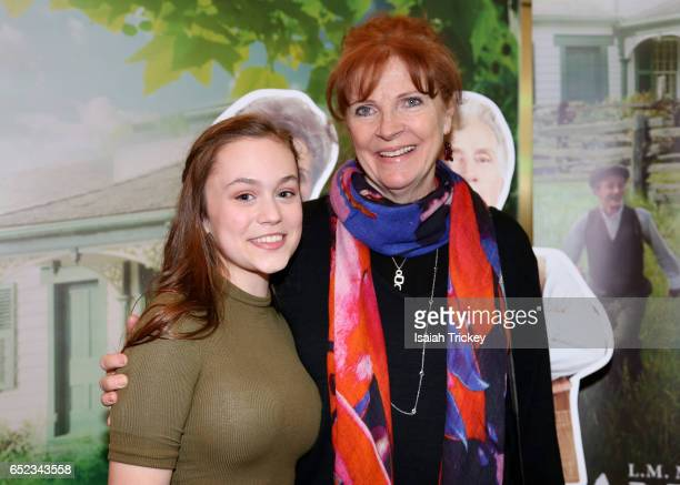 Actors Ella Ballentine and Sara Botsford of the television series 'Anne of Green Gables' attend the Academy of Canadian Cinema and Television's...