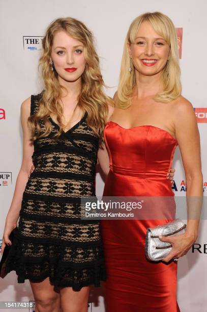 Actors Ella Rae Peck and Katherine LaNasa attend the Elton John AIDS Foundation's 11th Annual An Enduring Vision Benefit at Cipriani Wall Street on...