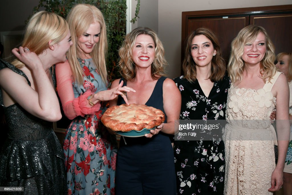 Actors Elle Fanning, Nicole Kidman, Chef Casey Thompson, director Sofia Coppola and actor Kirsten Dunst attend the after party for the premiere of Focus Features' 'The Beguiled' at Sunset Tower Hotel on June 12, 2017 in Los Angeles, California.
