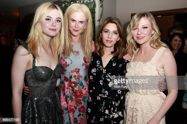 Actors Elle Fanning Nicole Kidman director Sofia Coppola and actor Kirsten Dunst attend the after party for the premiere of Focus Features' 'The...
