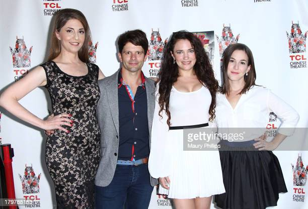 "Actors Ellen Dubin, Tim Doiron, April Mullen and Martha Macisaac arrive at ""Dead Before Dawn 3D"" premiere at Mann Chinese 6 on September 6, 2013 in..."