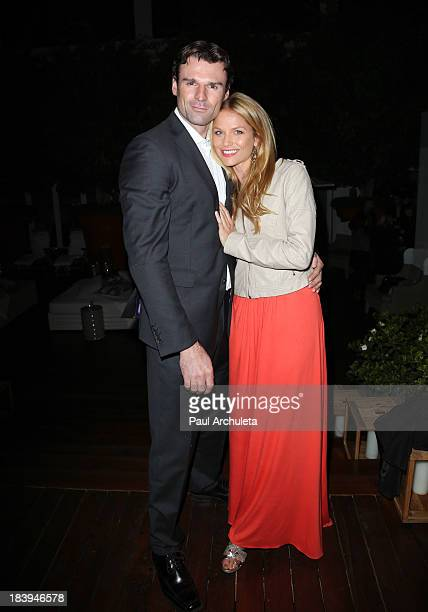 Actors Ellen Hollman and Stephen Dunlevy attend the Philhellenes Gala at SkyBar at the Mondrian Hotel in Los Angeles on October 9 2013 in West...