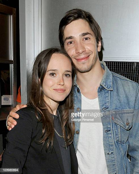 Actors Ellen Page and Justin Long arrive at the Super Premiere held at Ryerson Theatre during the 35th Toronto International Film Festival on...