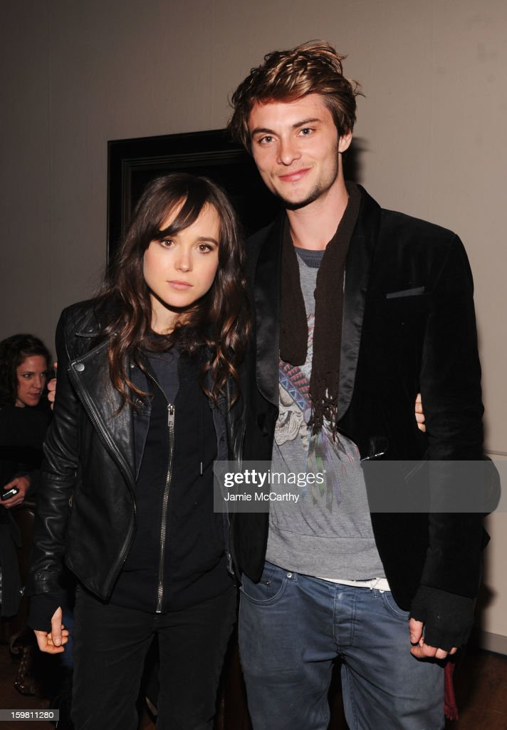 Actors Ellen Page and Shiloh Fernandez attend Grey Goose Blue Door part for Fox Searchlight Pictures 'Stoker' and 'The East' on January 20, 2013 in Park City, Utah.