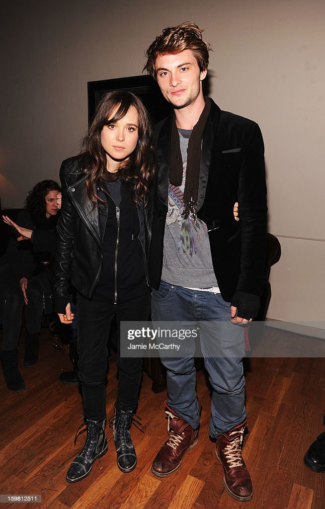 Actors Ellen Page and Shiloh Fernandez attend Grey Goose Blue Door part for Fox Searchlight Pictures 'Stocker' and 'The East' on January 20, 2013 in Park City, Utah.