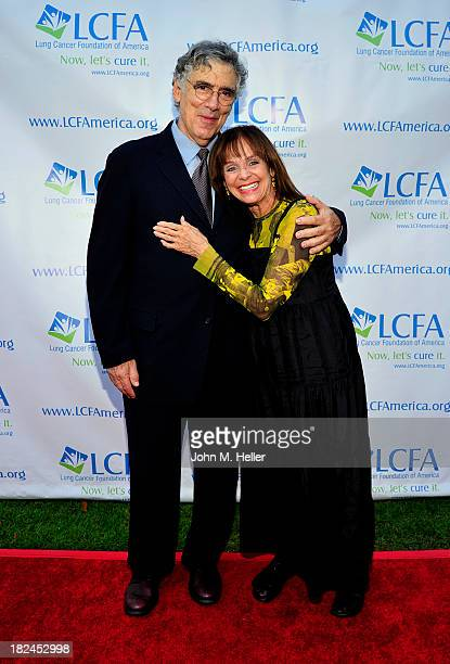 Actors Elliott Gould and Valerie Harper attend the Lung Cancer Foundation Of America's Bring On The Change event on September 29 2013 at a private...