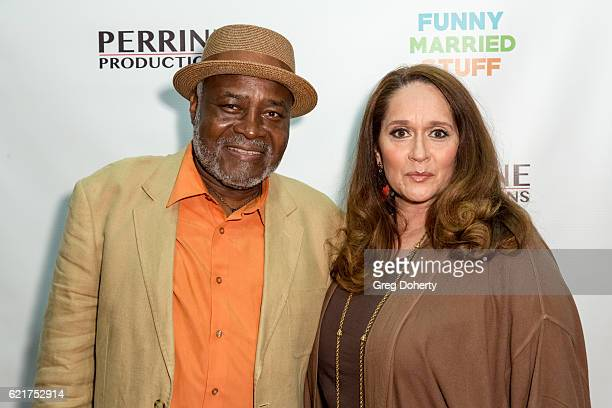Actors Ellis Williams and Iris Little Thomas arrive for the Screening Of Perrine Productions' 'Funny Married Stuff' at the ACME Comedy Theatre on...