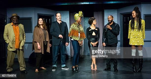Actors Ellis Williams Iris Little Thomas Dennis Larois Natalie Taylor Lony'e Perrine Peyton Perrine and Nika Williams on stage at the Screening Of...