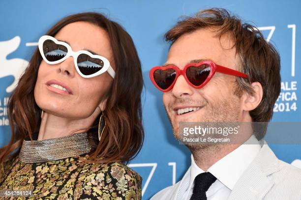 Actors Elodie Bouchez and Jonathan Lambert attend the 'Reality' Photocall during the 71st Venice Film Festival on August 28 2014 in Venice Italy