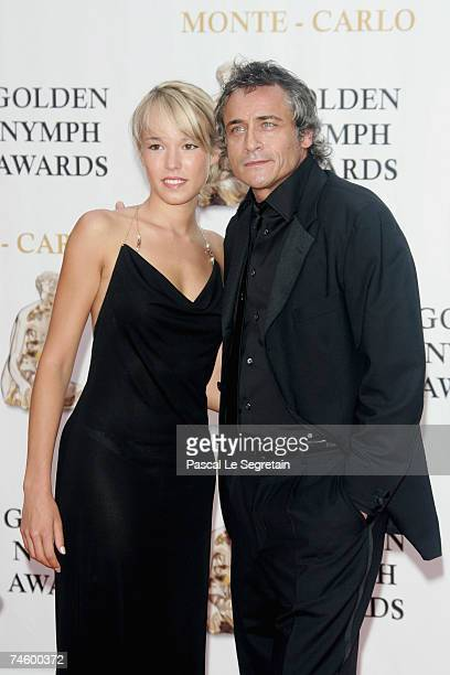 Actors Elodie Fontan and Jean Michel Tinivelli attend the 2007 Monte Carlo Television Festival closing ceremony held at Grimaldi Forum on June 14...