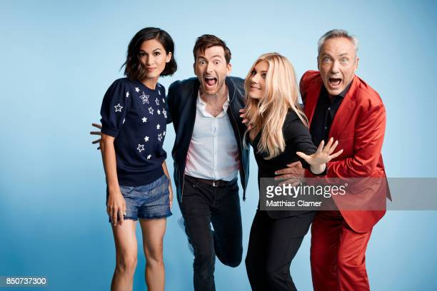 Actors Elodie Yung David Tennant Katheryn Winnick and Udo Kier from Call of Duty World War II are photographed for Entertainment Weekly Magazine on...