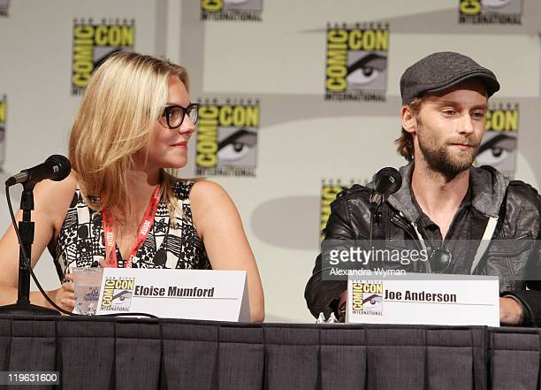Actors Eloise Mumford and Joe Anderson speak at the exclusive screening of ABC's newest supernatural series The River held at San Diego Convention...
